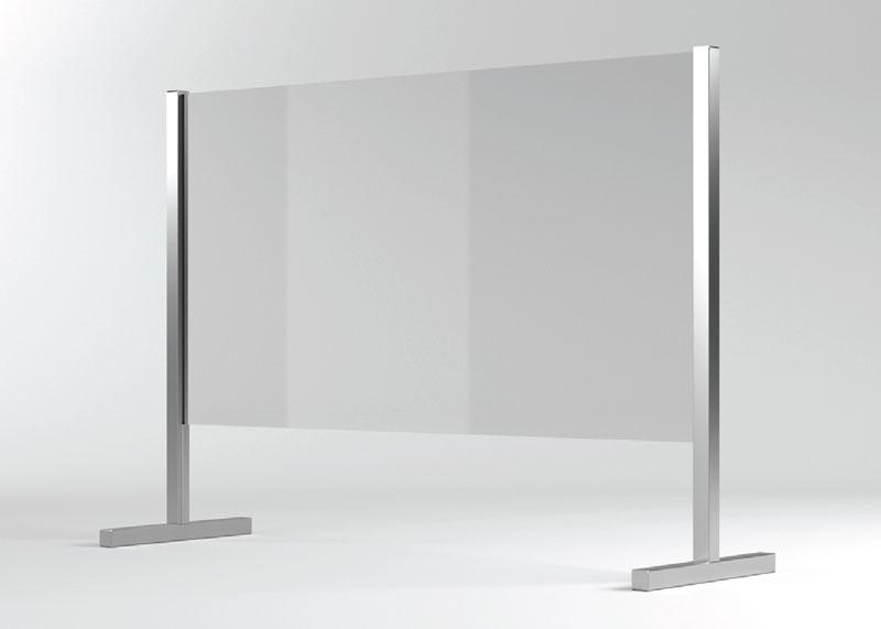 Barriera protettiva BASIC anticipato in vetro per distanza sociale