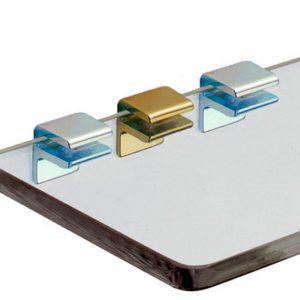 Shelf support F type with single screw for glass shelf